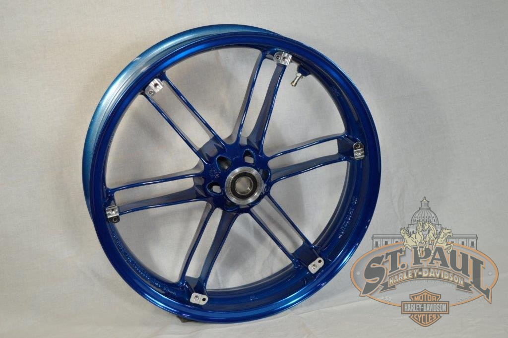 G0110 02A8Bybx Genuine Buell Front Translucent Hero Blue Wheel All Xbs 1125S U6A Wheels
