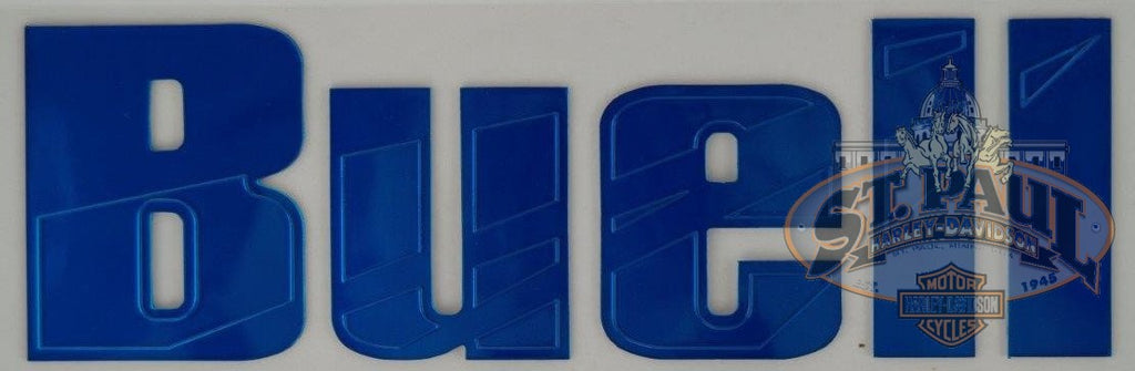 M0725 5Aa Genuine Buell Fuel Tank Air Box Cover Decal Sold As Pair B4D Emblem