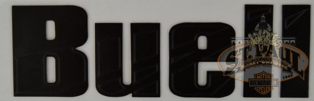M0725 5A8 Genuine Buell Fuel Tank Air Box Cover Decal Sold As Pair B4D Emblem
