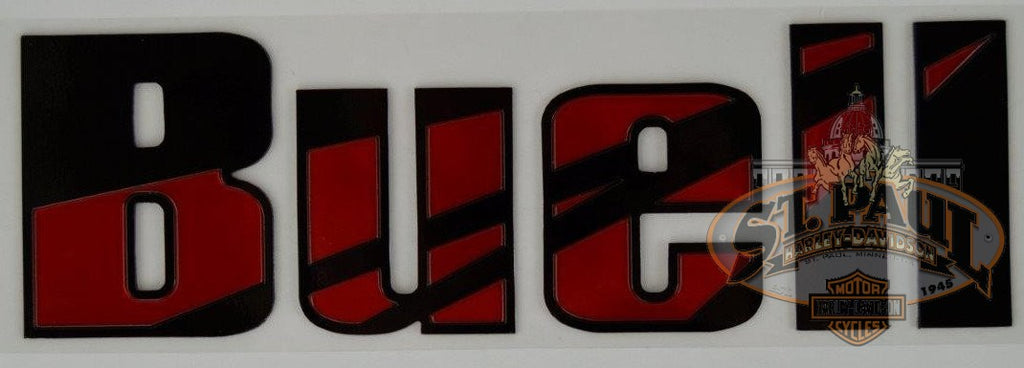 M0725 6Ac Genuine Buell Fuel Tank Air Box Cover Decal Sold As Pair B4D Emblem