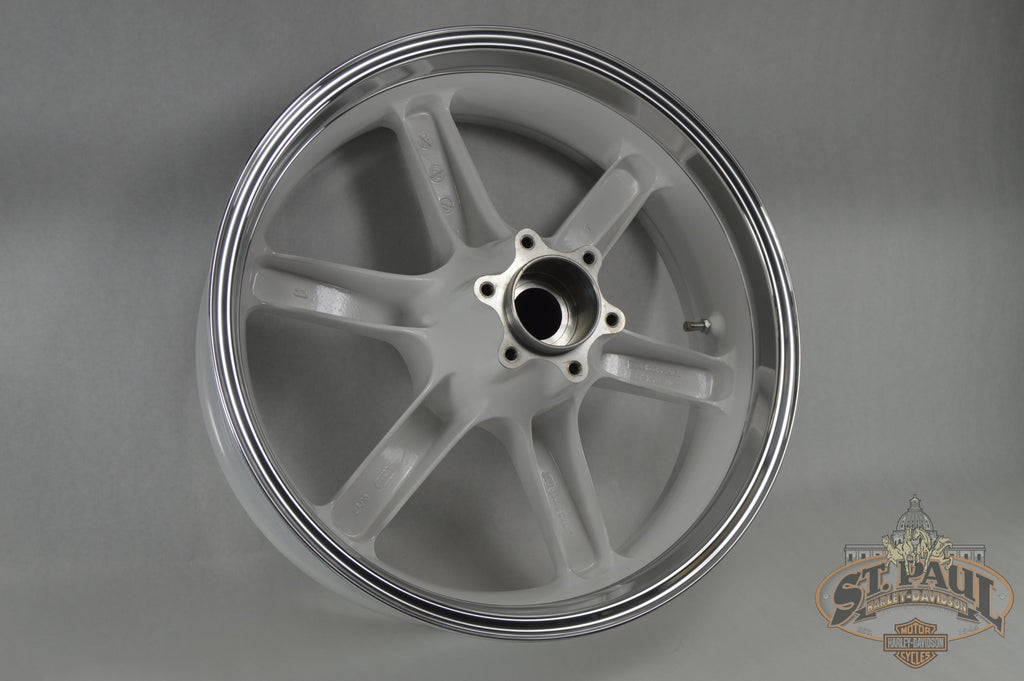 G1309.02A8Yj Genuine Buell Sky White Rear Wheel Kit Fits All Xbs & 1125S Models (U6A) Wheels