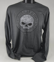 "St. Paul Harley-Davidson Long Sleeve T-Shirt, Men's ""Willie G Skull"""