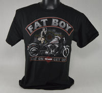"St. Paul Harley-Davidson Short Sleeve T-Shirt, Men's ""Fat Boy Nose Art"""