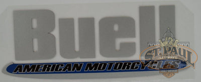 M0750 1Aj Genuine Buell Fuel Tank Air Box Cover Decal Sold As Pair U10A Emblem