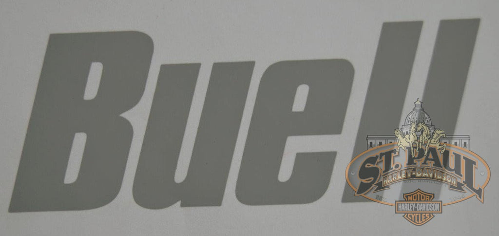 M0742Gr 8 Genuine Buell Front Fairing Decal In Gray U10C Emblem