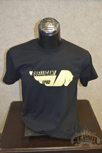 New!!! Sphd Buelligan! Short Sleeve Soft T-Shirt Black With Yellow Graphic