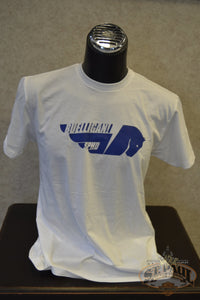 New!!! Sphd Buelligan! Short Sleeve Soft T-Shirt White With Blue Graphic