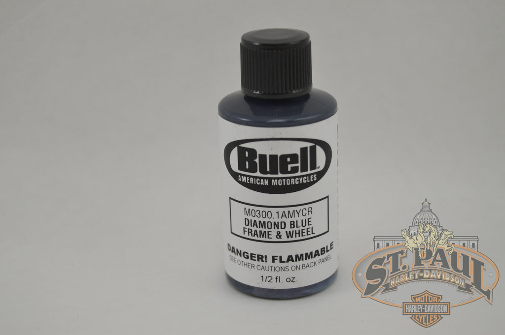 M0300 1Amycr Genuine Buell Diamond Blue 12 Oz Touch Up Paint B4S Chassis