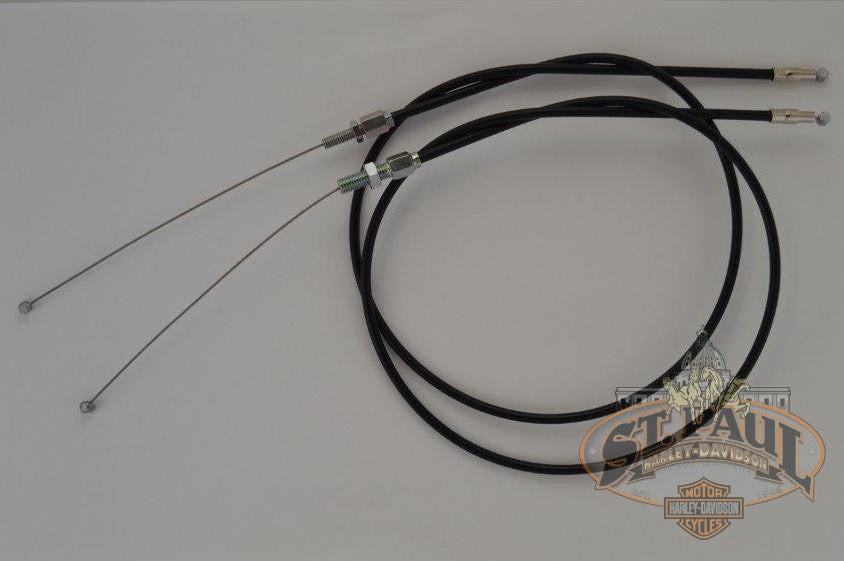 N0307 9 & N0308 9 Genuine Buell Throttle & Idle Cables, 96-98 Tubers  (L18B/L19A)