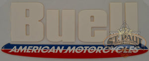 M0750 2A8 Genuine Buell Fuel Tank Air Box Cover Decal Sold As Pair U10A Emblem