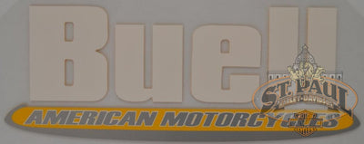 M0725 3A8 Geuine Buell Fuel Tank Air Box Cover Decal Sold As Pair B3D Emblem