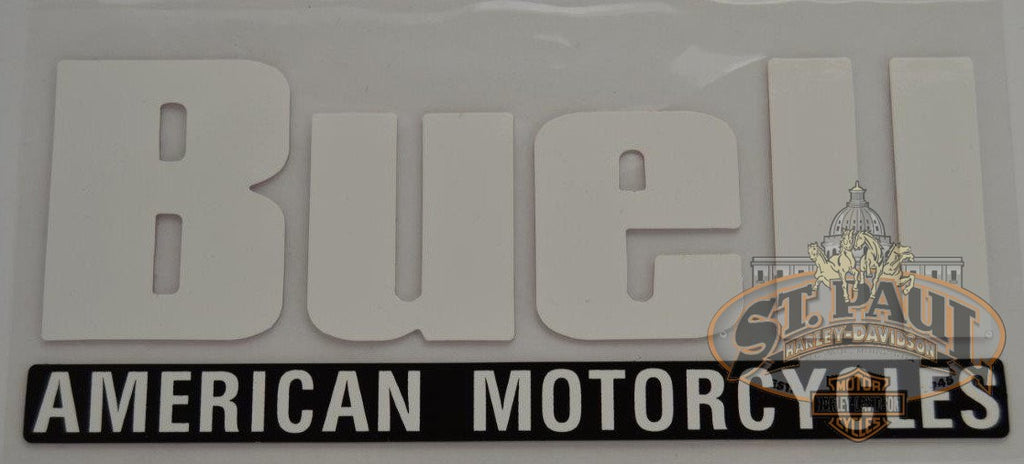 M0777 K Genuine Buell Fuel Tank Air Box Cover Decal Sold As Pair U10A Emblem