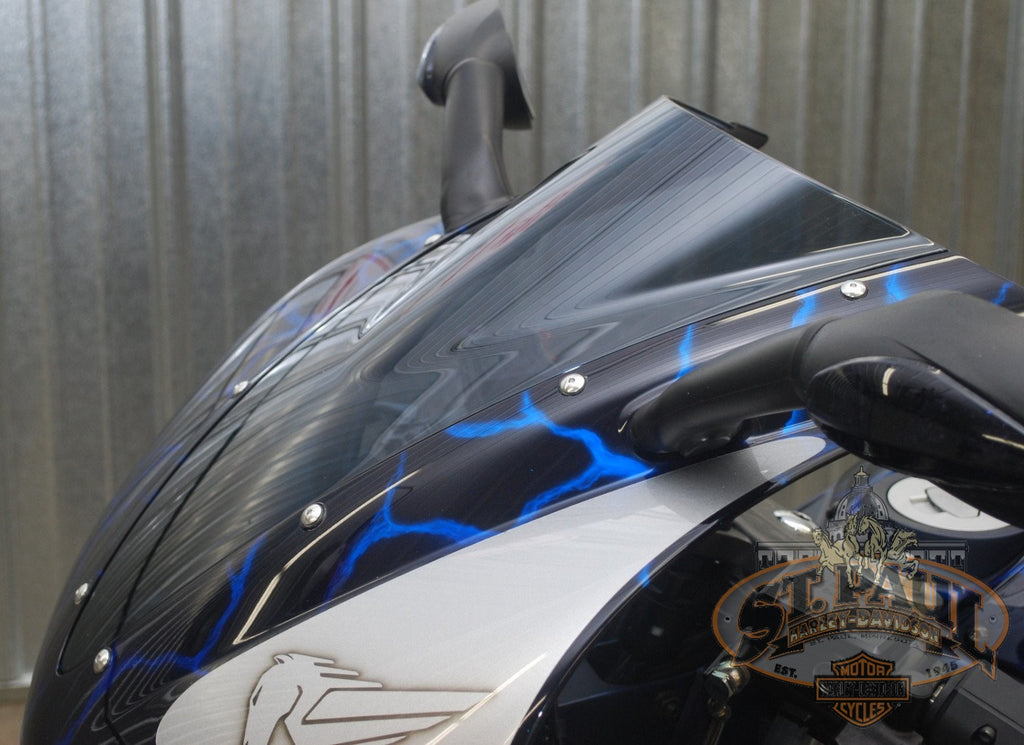 M0600 1Amamcd Genuine Buell 1125R Windscreen Kick Ash For 2008 2010 U8A Body
