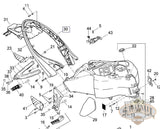 M0612.1Adybt Genuine Buell Left Tail Section For Xb Lightning Models Chassis