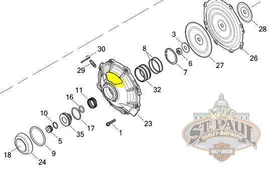 M0741.1AM Genuine Buell Clutch Cover Decal, 2008-2010