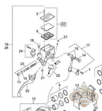 N0210 R Brake Or Clutch Master Cylinder Cover With Gasket Screws 2000 2010 All Models L19A Brakes