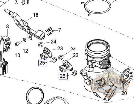 P0029.02A8 Genuine Buell Fuel Injector Lower O-Ring (B4H