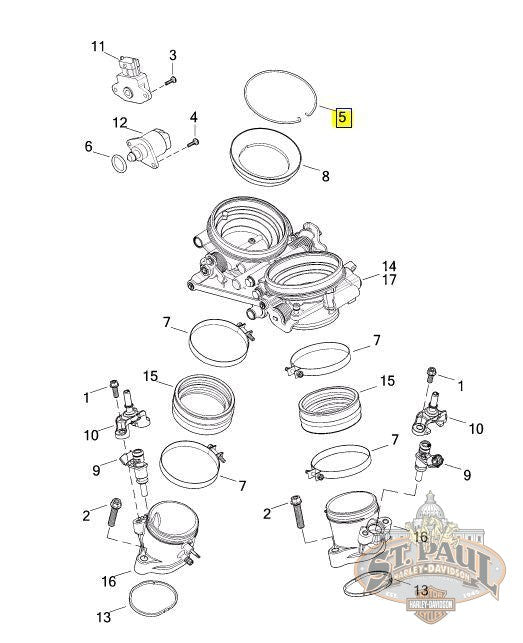 CE0008.1AM Genuine Buell Throttle Body Snap Ring 2008-2010