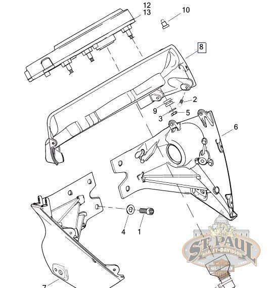 L0942.1AKYBP Genuine Buell Center Fairing Support Bracket