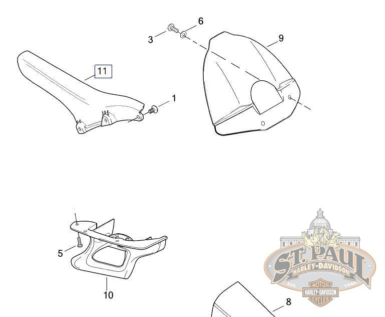 M0570.1AA Genuine Buell Upper Belt Guard, 2004-2005 XB
