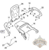 N0009 1Akfybq Genuine Buell Passenger Right Side Grab Handle 2006 2010 Xb12X Xt L18D Chassis