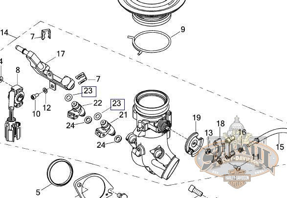 P0028 02A8 Genuine Buell Fuel Injector O-Ring (B4H)