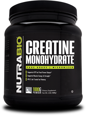 NutraBio - CREATINE MONOHYDRATE Powder Unflavored 200 Servings (1000g)