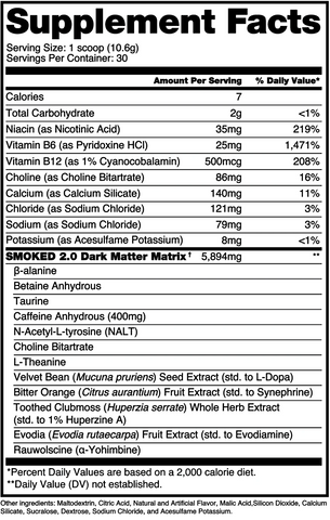 Alchemy Labs SMOKED 2.0 30 Servings Tiger's Blood