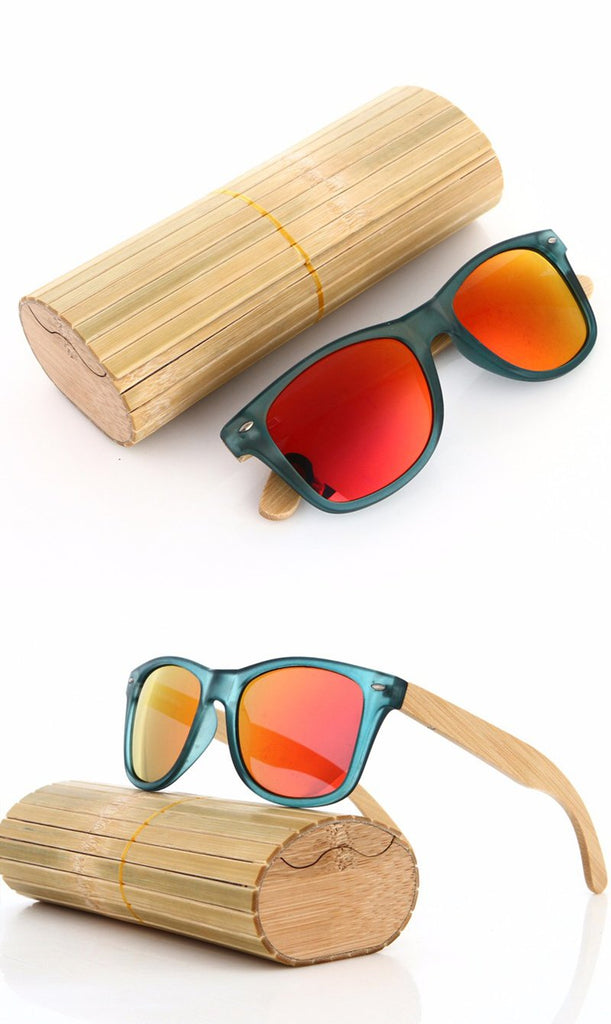 Luxe Unisex Multicolour Sunglasses with a Natural Bamboo Wooden Frame (4 colours) - Be the Boss