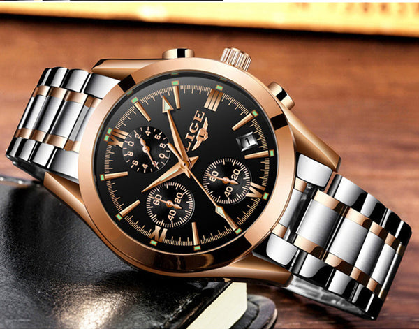 Top Luxury Brand Gold Military Sport Watch - Be the Boss