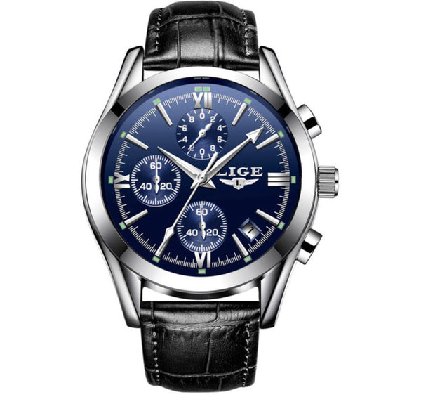 Top Luxury Brand Blue Military Sport Watch with Leather wristband - Be the Boss