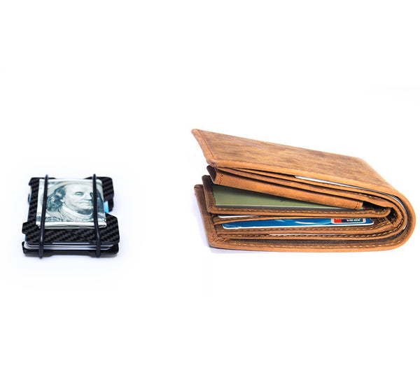 RFID Credit Card Holder Wallet Money Clip (2 colours) - Be the Boss