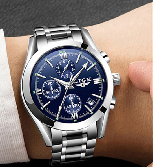 Top Luxury Brand Silver Military Sport Watch - Be the Boss