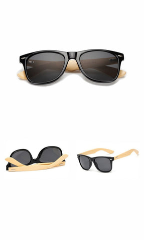 Classic Unisex Multicolour Sunglasses with a Natural Bamboo Wooden Frame (12 colours) - Be the Boss