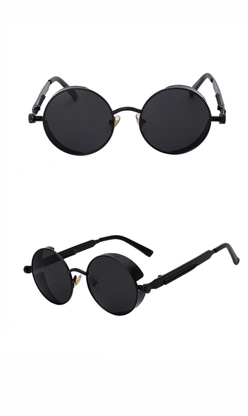 Round Metal Steampunk Gothic Multicolour Sunglasses (9 colours) - Be the Boss
