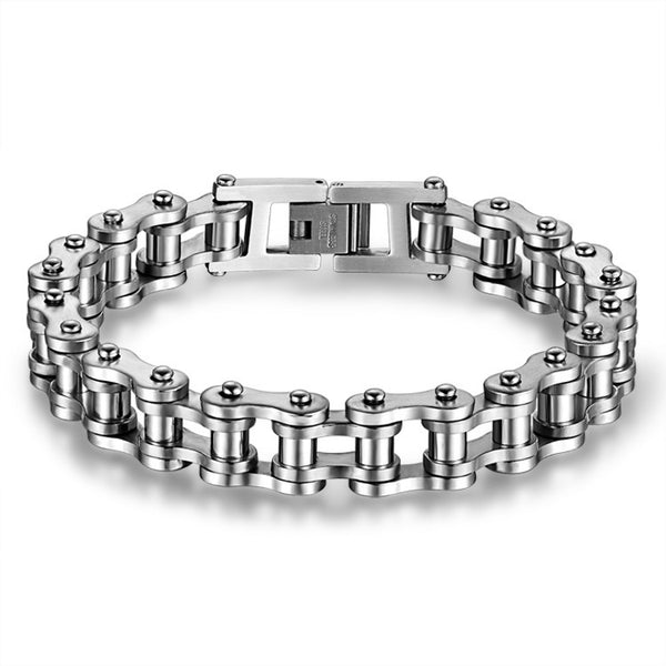 Stainless Steel Bicycle Bike Chain Bracelet Punk Gothic - Be the Boss