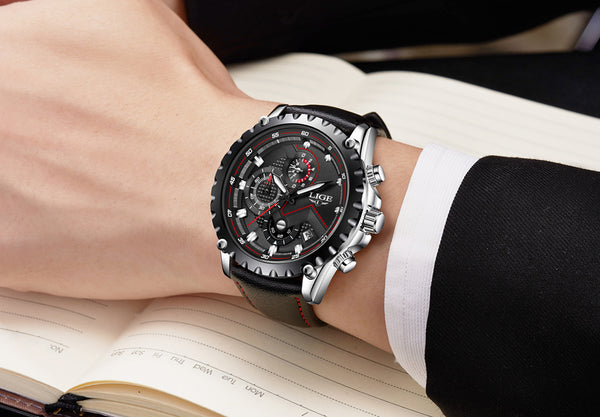 Black Luxury Stainless Steel Waterproof Wristwatch - Be the Boss