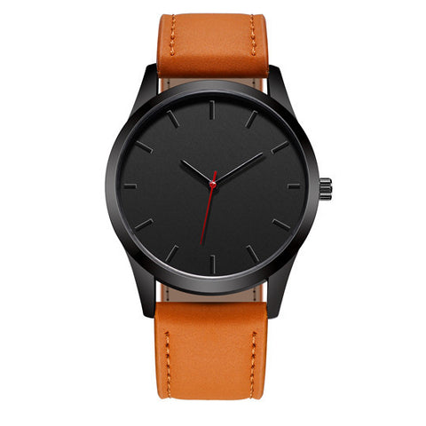 2018 Large Dial Military Men Watch with Orange Leather wristband - Be the Boss