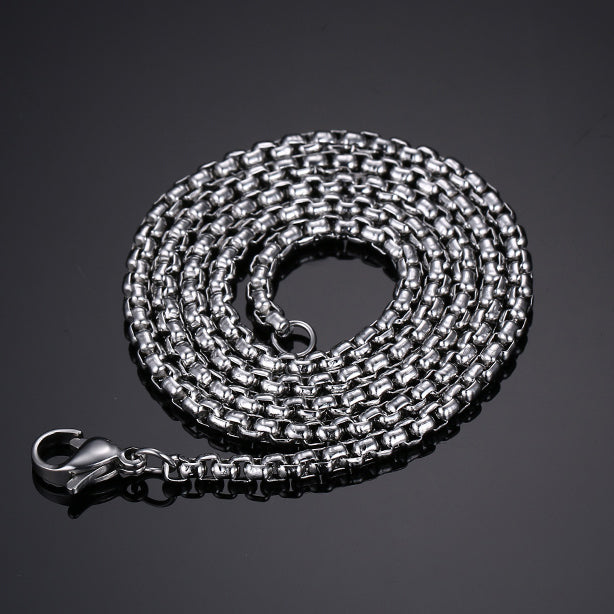 Fashion Stainless Steel Silver Chain Men's Necklace - Be the Boss