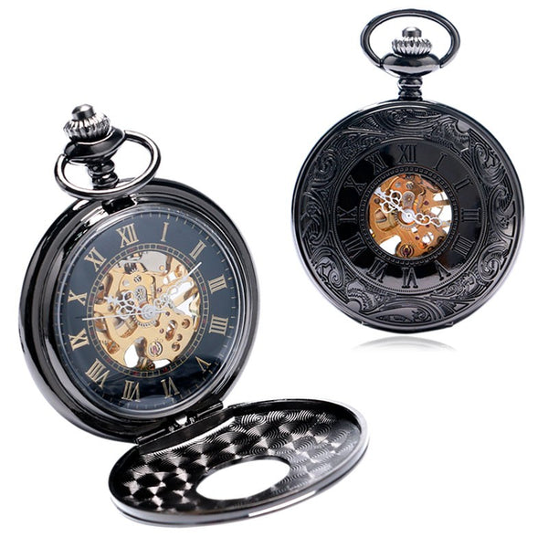 Pocket Watch Mechanical Vintage Steampunk + Luxury Gift Box - Be the Boss