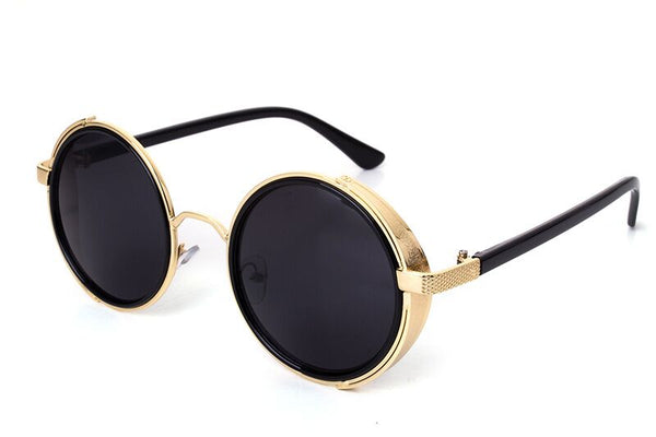 Large Round Metal Steampunk Unisex Multicolour Sunglasses (3 colours) - Be the Boss