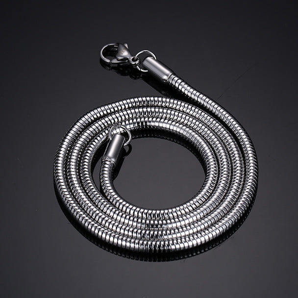 Snake Stainless Steel Silver Chain Men's Necklace - Be the Boss