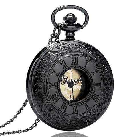 Pocket Watch Black Roman Vintage Antique with a gift box - Be the Boss
