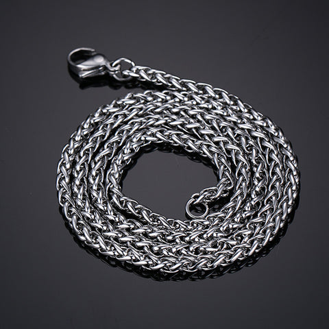 Classic Stainless Steel Silver Chain Men's Necklace - Be the Boss
