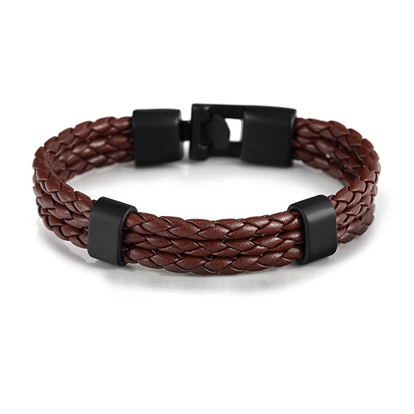 Leather Easy-hook Bracelet & Bangles (8 colours) - Be the Boss