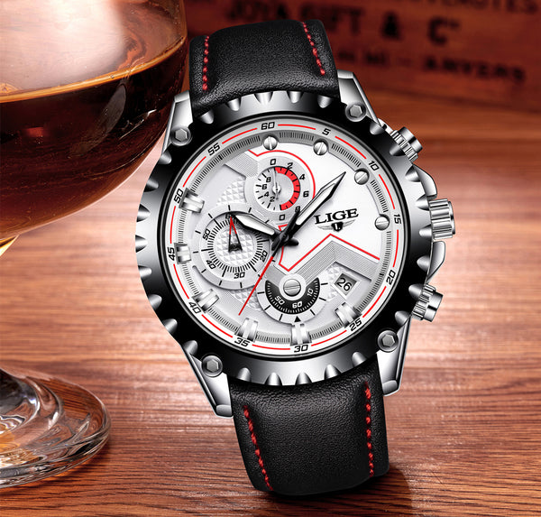 White Luxury Stainless Steel Waterproof Wristwatch - Be the Boss