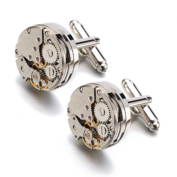 Cufflinks Stainless Steel Vintage Steampunk Watch Movement - Be the Boss