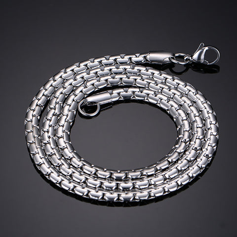 New Style Stainless Steel Silver Chain Men's Necklace - Be the Boss