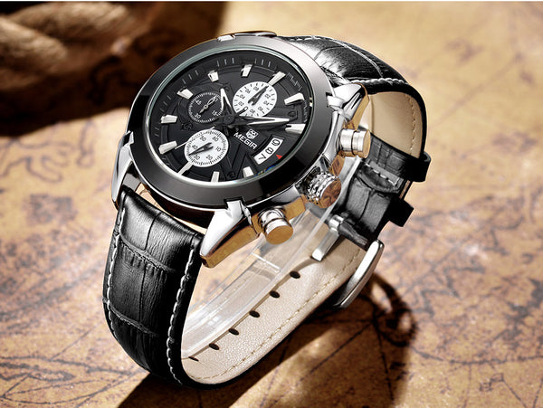 Black Heavy Duty Military Chronograph Wristwatch - Be the Boss