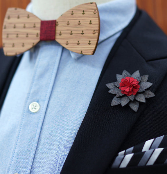 Handmade 100% Wooden Bow Vintage Pin for Men (3 colours) - Be the Boss